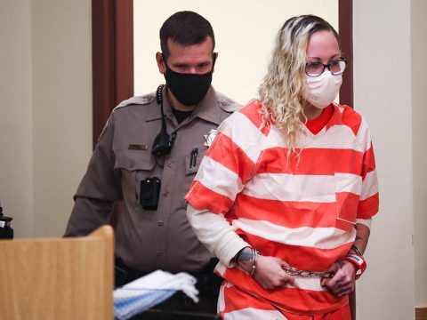 Heather Pate, who with two others is charged with murder with a deadly weapon and kidnapping wi ...