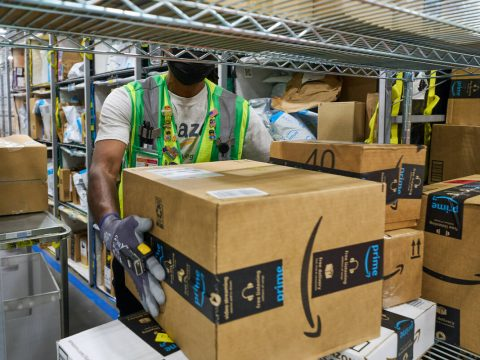 Amazon has opened a newly built distribution center at 650 E. Owens Ave. in North Las Vegas. (C ...
