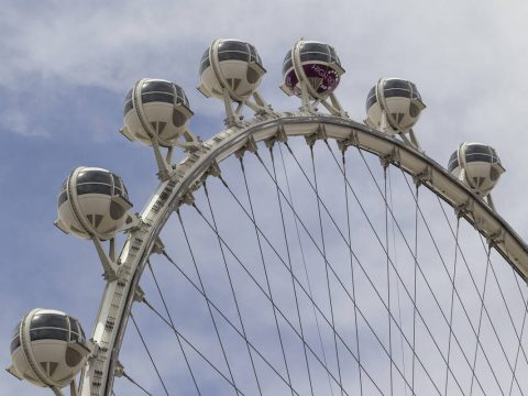 The High Roller observation wheel at the LINQ Promenade in Las Vegas. (Las Vegas Review-Journal)