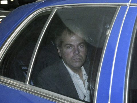 FILE - In this Nov. 18, 2003, file photo, John Hinckley Jr. arrives at U.S. District Court in W ...