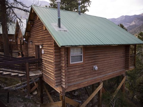 A cabin at the Mt. Charleston Lodge in Las Vegas is seen on Friday, Sept. 24, 2021. (Erik Verdu ...
