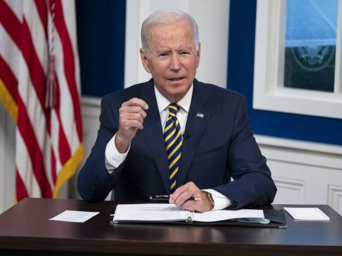 President Joe Biden delivers remarks to the Major Economies Forum on Energy and Climate, in the ...