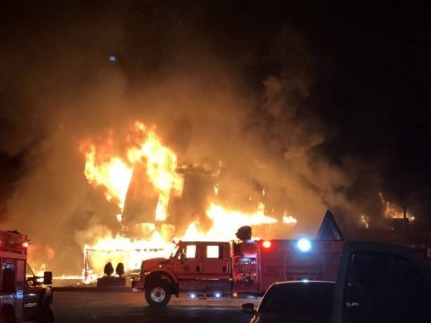 Early morning fire badly damages Mount Charleston Lodge