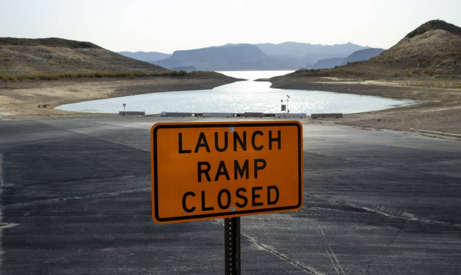 The boat launch is now closed for Boulder Harbor as well as others at the Lake Mead National Re ...