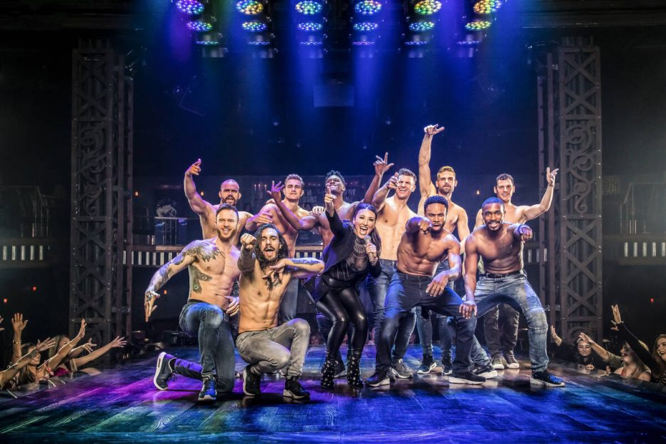"""The cast of """"Magic Mike Live"""" at Sahara Las Vegas is shown in a promotional photo. (Jerry Metellus)"""