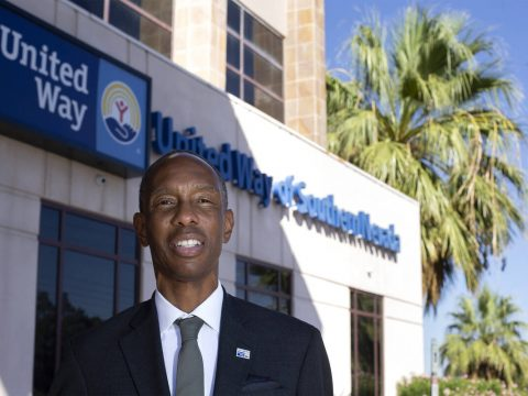 Julian High, president and CEO of United Way of Southern Nevada, outside the non-profit organiz ...