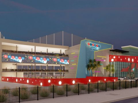 Rendering of Atomic Range, a golf entertainment venue that will be located just north of The St ...