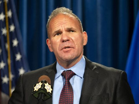 In this Sept. 16, 2021 file photo, Capt. John Pelletier gives a press conference about the fent ...