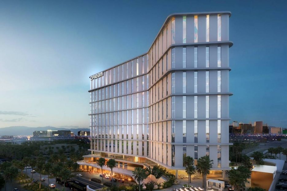 A rendering of the Dream Las Vegas hotel-casino planned to be built next to McCarran Internatio ...