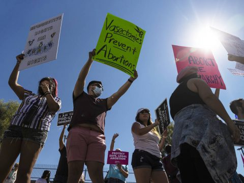 Abortion rights march draws hundreds to downtown Las Vegas