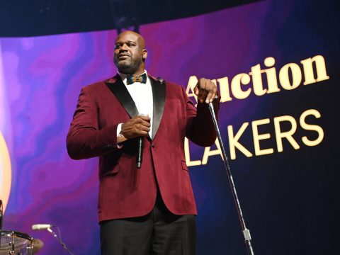 """Shaquille O'Neal is shown at """"The Event,"""" a benefit concert for the Shaq Foundation at MGM Gran ..."""