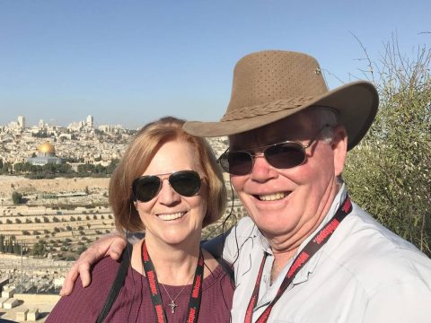 Deborah Klink, shown here with her husband, Doug, missed her annual mammogram in 2020 because o ...